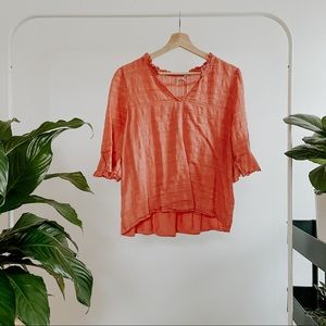 Anthropologie Dolan Sweet Little Ruffle Top